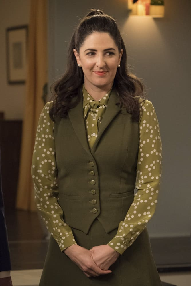 "THE GOOD PLACE -- ""Everything is Great!"" Episode 201 -- Pictured: D'Arcy Carden as Janet -- (Photo by: Colleen Hayes/NBC)"