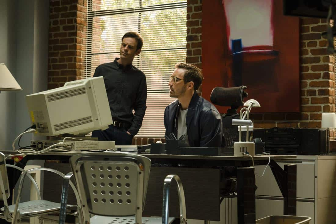 Scoot McNairy as Gordon Clark, Lee Pace as Joe MacMillan - Halt and Catch Fire _ Season 4, Episode 5 - Photo Credit: Tina Rowden/AMC