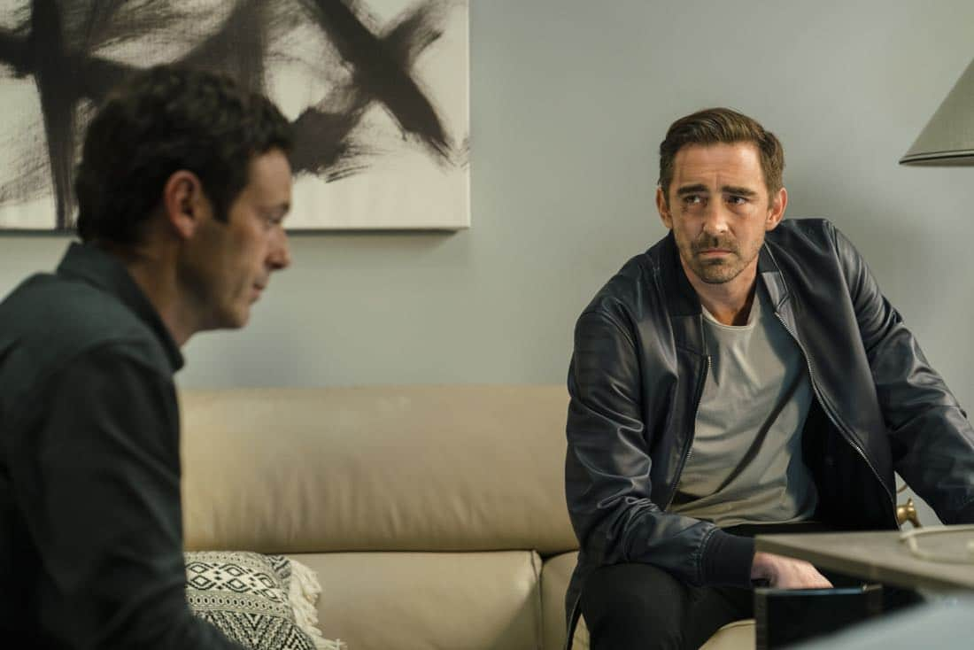 Lee Pace as Joe MacMillan, Scoot McNairy as Gordon Clark - Halt and Catch Fire _ Season 4, Episode 5 - Photo Credit: Tina Rowden/AMC