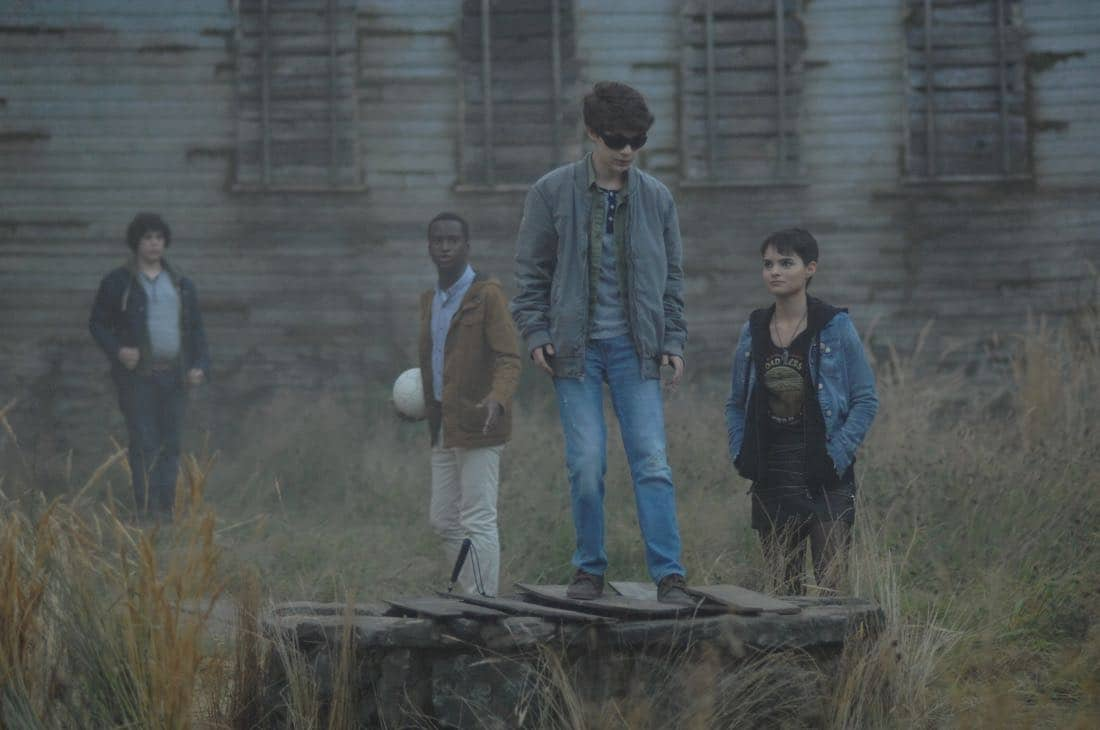 "THE EXORCIST: L-R: Guest star Cyrus Arnold, guest star Alex Barima, guest star Hunter Dillon and Brianna Hildebrand in the ""Janus"" season premiere episode of THE EXORCIST airing Friday, Sept. 29 (9:00-10:00 PM ET/PT) on FOX. ©Fox Broadcasting Co. Cr: Sergei Bachlakov/FOX"