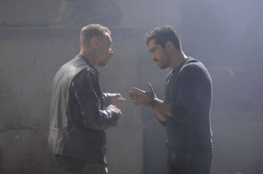"THE EXORCIST: L-R: Ben Daniels and Alfonso Herrera in the ""Janus"" season premiere episode of THE EXORCIST airing Friday, Sept. 29 (9:00-10:00 PM ET/PT) on FOX. ©Fox Broadcasting Co. Cr: Sergei Bachlakov/FOX"