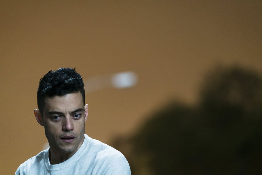 "MR. ROBOT -- ""eps3.0_power-saver-mode.h"" Episode 301 -- Pictured: Rami Malek as Elliot Alderson -- (Photo by: Michael Parmelee/USA Network)"