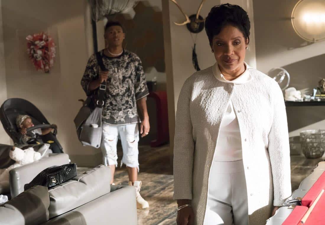 "EMPIRE: Pictured L-R: Bryshere Gray and guest star Phylicia Rashad in the ""Noble Memory"" episode of EMPIRE premiering Wednesday, Sept. 27 (8:00-9:00 PM ET/PT) on FOX. ©2017 Fox Broadcasting Co. CR: Chuck Hodes/FOX"