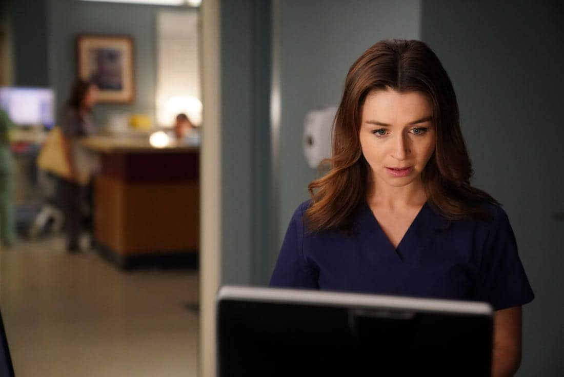 "GREY'S ANATOMY - ""Get off on the Pain"" - Meredith struggles to come up with a new plan for Owen's sister. Jo makes a surprising choice regarding Alex, and Andrew's sister's controversial research leads to a shocking discovery, on ""Grey's Anatomy,"" THURSDAY, SEPTEMBER 28 (9:00-10:00 p.m. EDT), on The ABC Television Network. (ABC/Mitch Haaseth)"