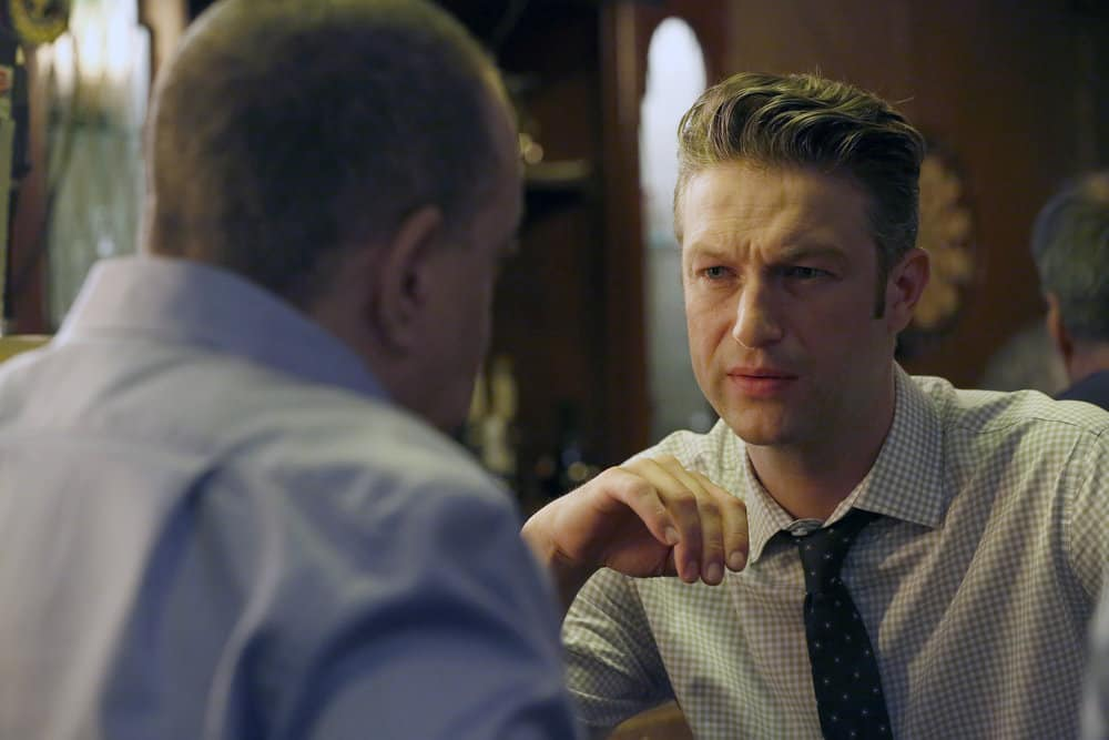 "LAW & ORDER: SPECIAL VICTIMS UNIT -- ""Gone Fishin'"" Episode 1901 -- Pictured: Peter Scanavino as Dominick ""Sonny"" Carisi -- (Photo by: Will Hart/NBC)"