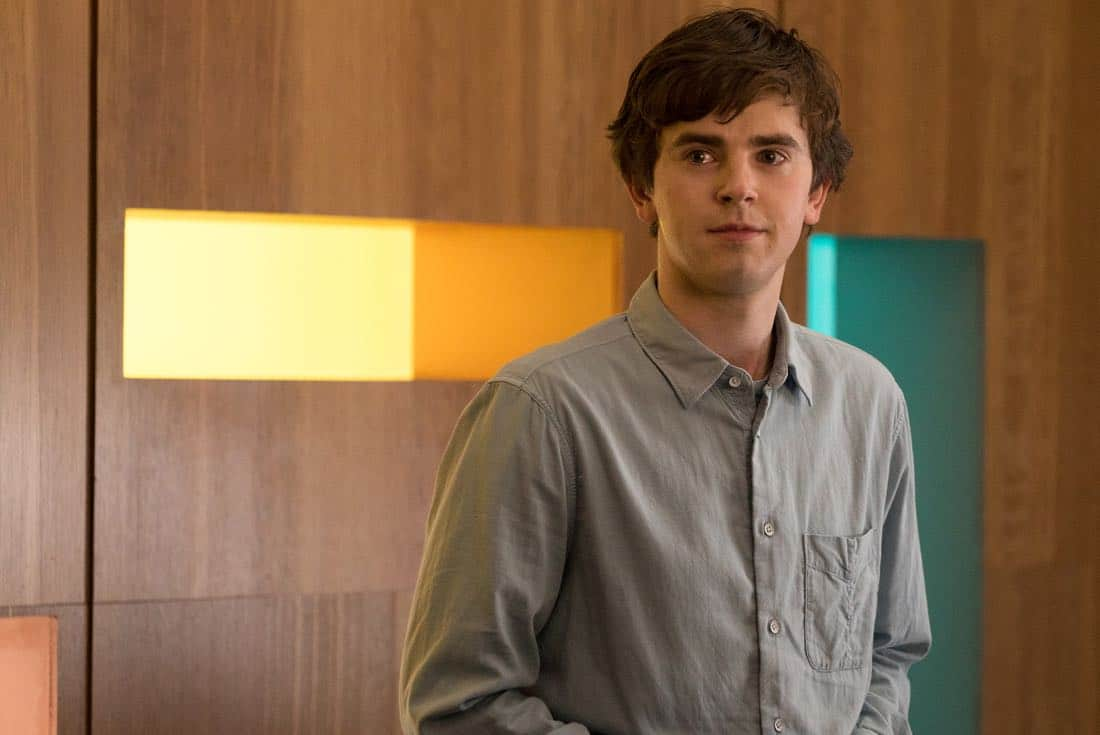 "THE GOOD DOCTOR - ""PILOT - Burnt Food"" - Dr. Shaun Murphy (Freddie Highmore), a young surgeon with autism and savant syndrome, relocates from a quiet country life to join the prestigious St. Bonaventure hospital's surgical unit. Alone in the world and unable to personally connect with those around him, his only advocate, Dr. Aaron Glassman (Richard Schiff), challenges the skepticism and prejudices of the hospital's board and staff when he brings him in to join the team. Shaun will need to work harder than he ever has before, as he navigates his new environment and relationships to prove to his colleagues that his extraordinary medical gifts will save lives. The highly anticipated series premiere of ""The Good Doctor"" airs MONDAY, SEPTEMBER 25 (10:01-11:00 p.m. EDT), on The ABC Television Network. (ABC/Liane Hentscher)"
