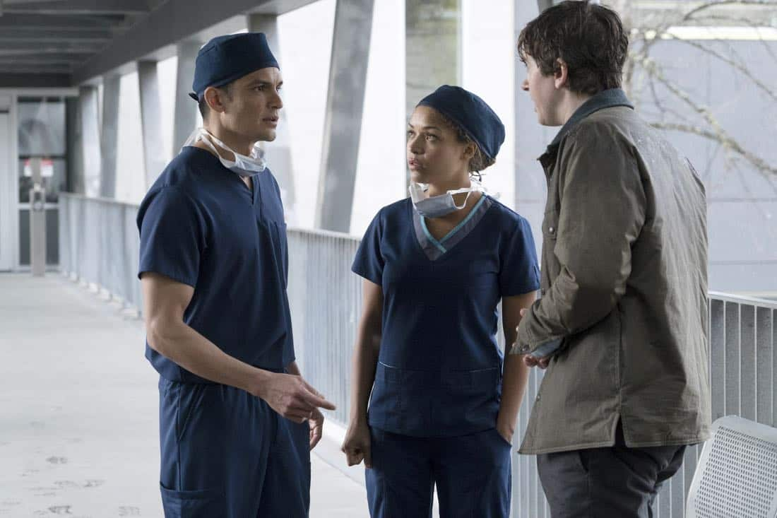 "THE GOOD DOCTOR - ""PILOT - Burnt Food"" - Dr. Shaun Murphy (Freddie Highmore), a young surgeon with autism and savant syndrome, relocates from a quiet country life to join the prestigious St. Bonaventure hospital's surgical unit. Alone in the world and unable to personally connect with those around him, his only advocate, Dr. Aaron Glassman (Richard Schiff), challenges the skepticism and prejudices of the hospital's board and staff when he brings him in to join the team. Shaun will need to work harder than he ever has before, as he navigates his new environment and relationships to prove to his colleagues that his extraordinary medical gifts will save lives. The highly anticipated series premiere of ""The Good Doctor"" airs MONDAY, SEPTEMBER 25 (10:01-11:00 p.m. EDT), on The ABC Television Network. (ABC/Liane Hentscher) NICHOLAS GONZALEZ, ANTONIA THOMAS, FREDDIE HIGHMORE"