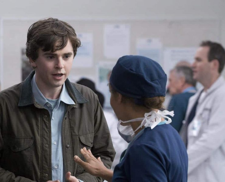 "THE GOOD DOCTOR - ""PILOT - Burnt Food"" - Dr. Shaun Murphy (Freddie Highmore), a young surgeon with autism and savant syndrome, relocates from a quiet country life to join the prestigious St. Bonaventure hospital's surgical unit. Alone in the world and unable to personally connect with those around him, his only advocate, Dr. Aaron Glassman (Richard Schiff), challenges the skepticism and prejudices of the hospital's board and staff when he brings him in to join the team. Shaun will need to work harder than he ever has before, as he navigates his new environment and relationships to prove to his colleagues that his extraordinary medical gifts will save lives. The highly anticipated series premiere of ""The Good Doctor"" airs MONDAY, SEPTEMBER 25 (10:01-11:00 p.m. EDT), on The ABC Television Network. (ABC/Liane Hentscher) FREDDIE HIGHMORE, ANTONIA THOMAS"