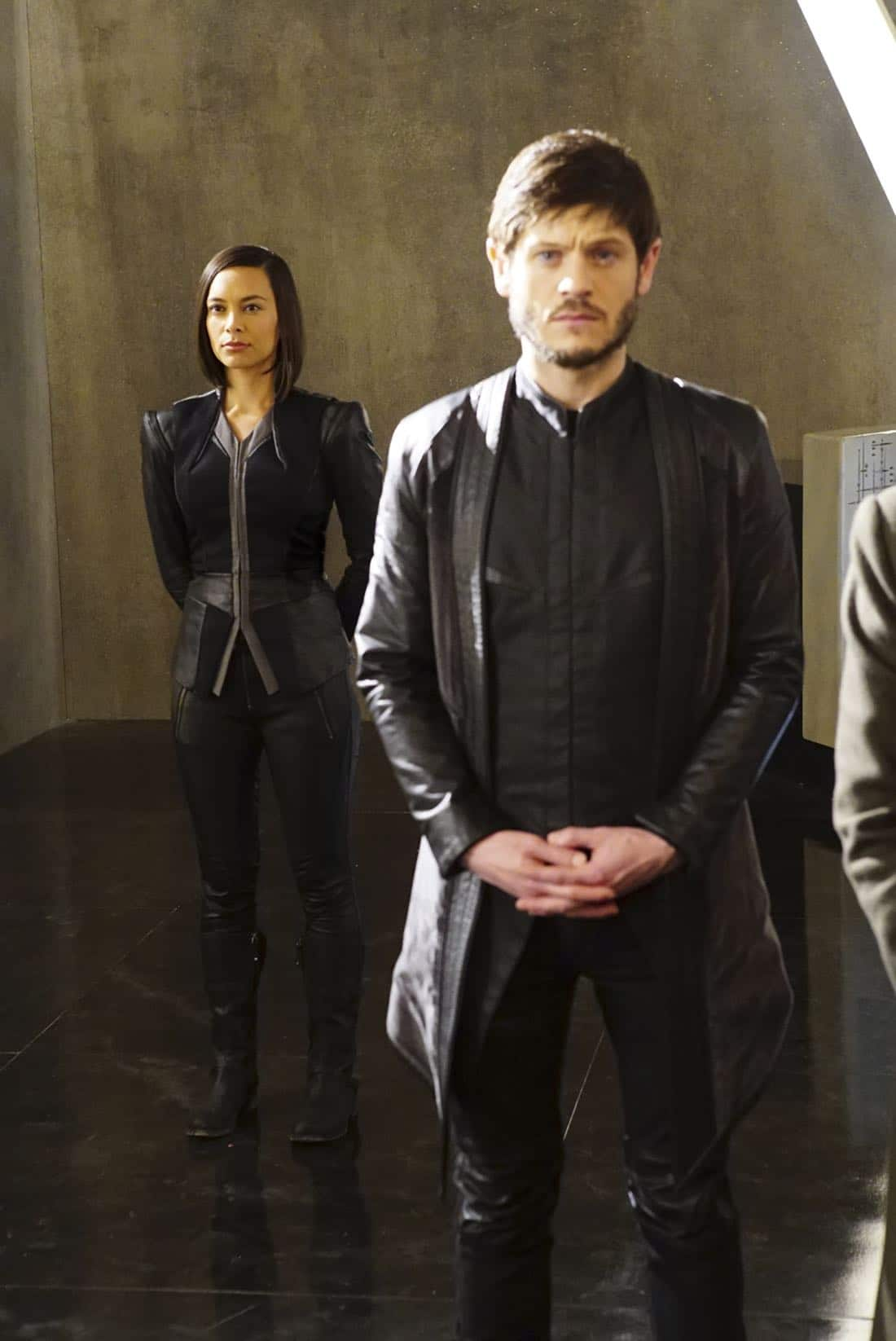"MARVEL'S INHUMANS - ""Those Who Would Destroy Us"" - The highly anticipated new Marvel television series ""Marvel's Inhumans"" makes its debut on the small screen with the network premiere of the series' first two episodes on FRIDAY, SEPTEMBER 29 (8:00-10:01 p.m. EDT), on The ABC Television Network. (ABC/Karen Neal) SONYA BALMORES, IWAN RHEON"