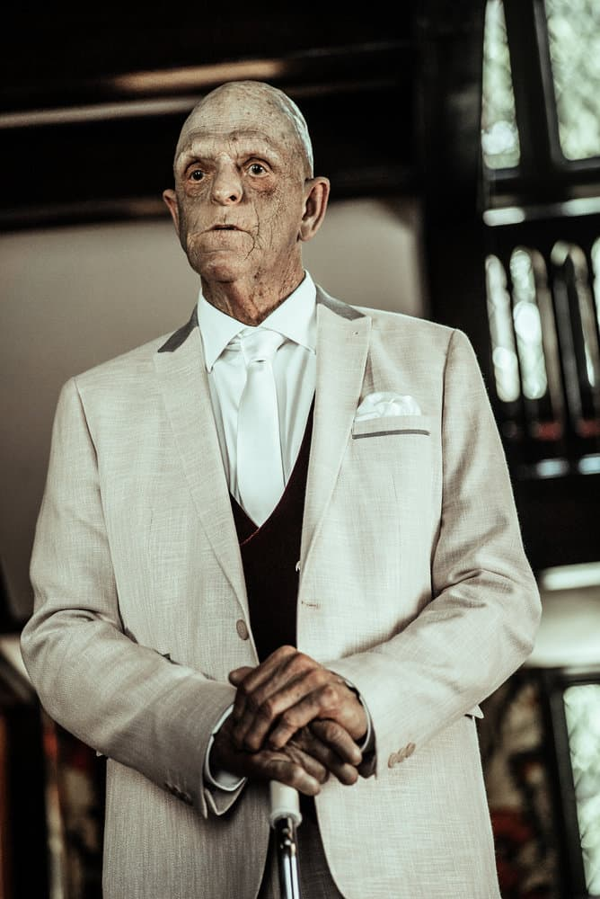 Z NATION -- Season:4 -- Pictured: Michael Berryman as The Founder -- (Photo by: Daniel Sawyer Schaefer/Go2 Z 4/Syfy)