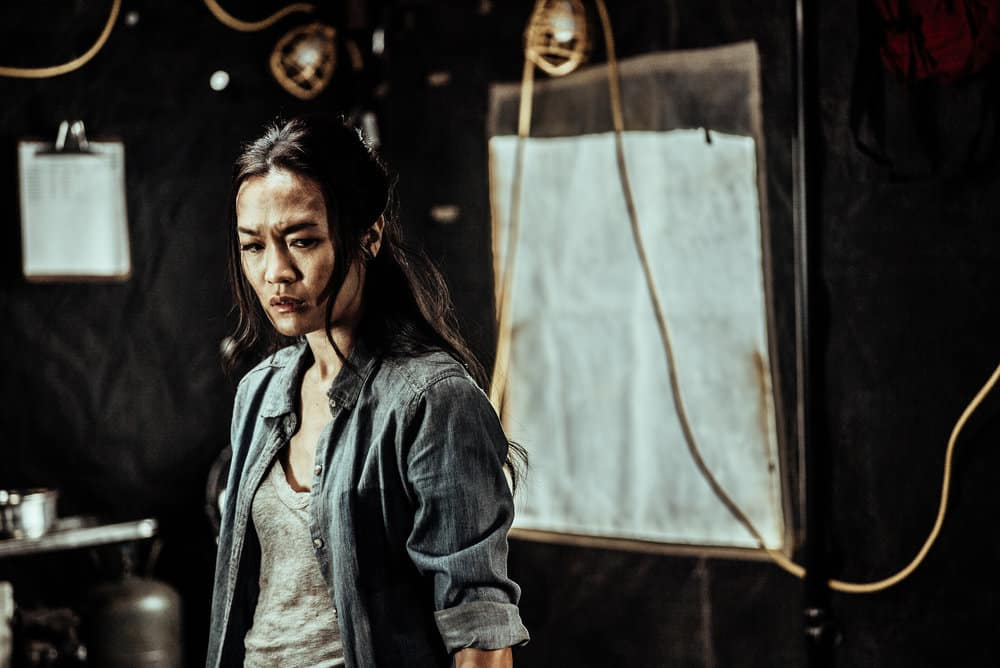 Z NATION -- Season:4 -- Pictured: Sydney Viengluang as Dr. Sun Mei -- (Photo by: Daniel Sawyer Schaefer/Go2 Z 4/Syfy)