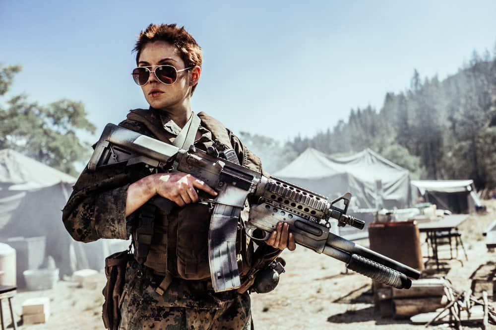 Z NATION -- Season:4 -- Pictured: Grace Phipps as Sarge -- (Photo by: Daniel Sawyer Schaefer/Go2 Z 4/Syfy)