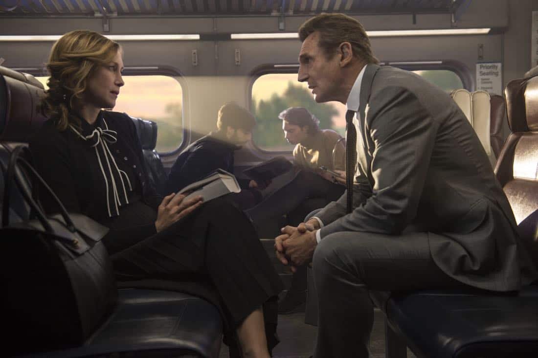 The Commuter In theaters January 12, 2018. Starring Liam Neeson, Vera Farmiga, Patrick Wilson, Sam Neill, Elizabeth McGovern.