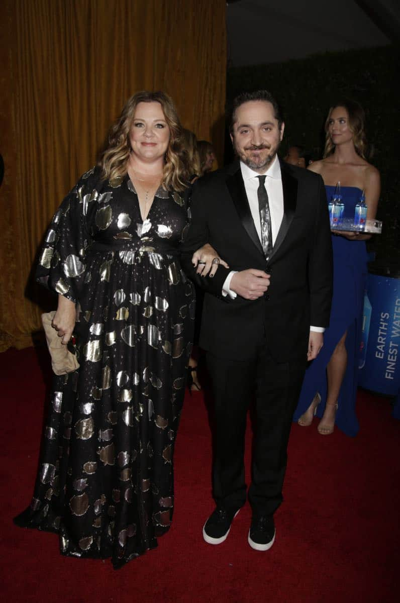 Melissa McCarthy and Ben Falcone on the Red Carpet at the 69TH PRIMETIME EMMY AWARDS, LIVE from the Microsoft Theater in Los Angeles Sunday, Sept. 17 (8:00-11:00 PM, live ET/5:00-8:00 PM live PT) on the CBS Television Network.   Photo: Francis Specker/CBS ©2017 CBS Broadcasting, Inc. All Rights Reserved.
