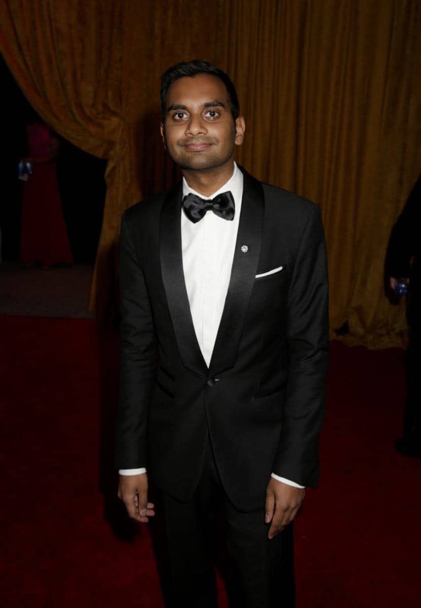 Aziz Ansari on the Red Carpet at the 69TH PRIMETIME EMMY AWARDS, LIVE from the Microsoft Theater in Los Angeles Sunday, Sept. 17 (8:00-11:00 PM, live ET/5:00-8:00 PM live PT) on the CBS Television Network.   Photo: Francis Specker/CBS ©2017 CBS Broadcasting, Inc. All Rights Reserved.
