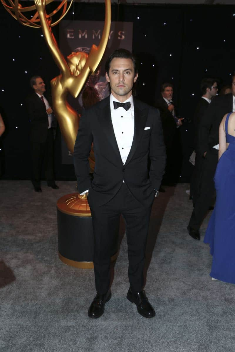 Milo Ventimiglia arrives on the red carpet at the 69TH PRIMETIME EMMY AWARDS, LIVE from the Microsoft Theater in Los Angeles Sunday, Sept. 17 (8:00-11:00 PM, live ET/5:00-8:00 PM live PT) on the CBS Television Network.   Photo: Mark Davis/CBS ©2017 CBS Broadcasting, Inc. All Rights Reserved.