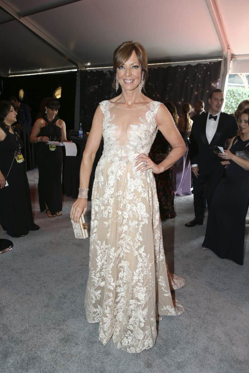 Allison Janney arrives on the red carpet at the 69TH PRIMETIME EMMY AWARDS, LIVE from the Microsoft Theater in Los Angeles Sunday, Sept. 17 (8:00-11:00 PM, live ET/5:00-8:00 PM live PT) on the CBS Television Network.   Photo: Mark Davis/CBS ©2017 CBS Broadcasting, Inc. All Rights Reserved.
