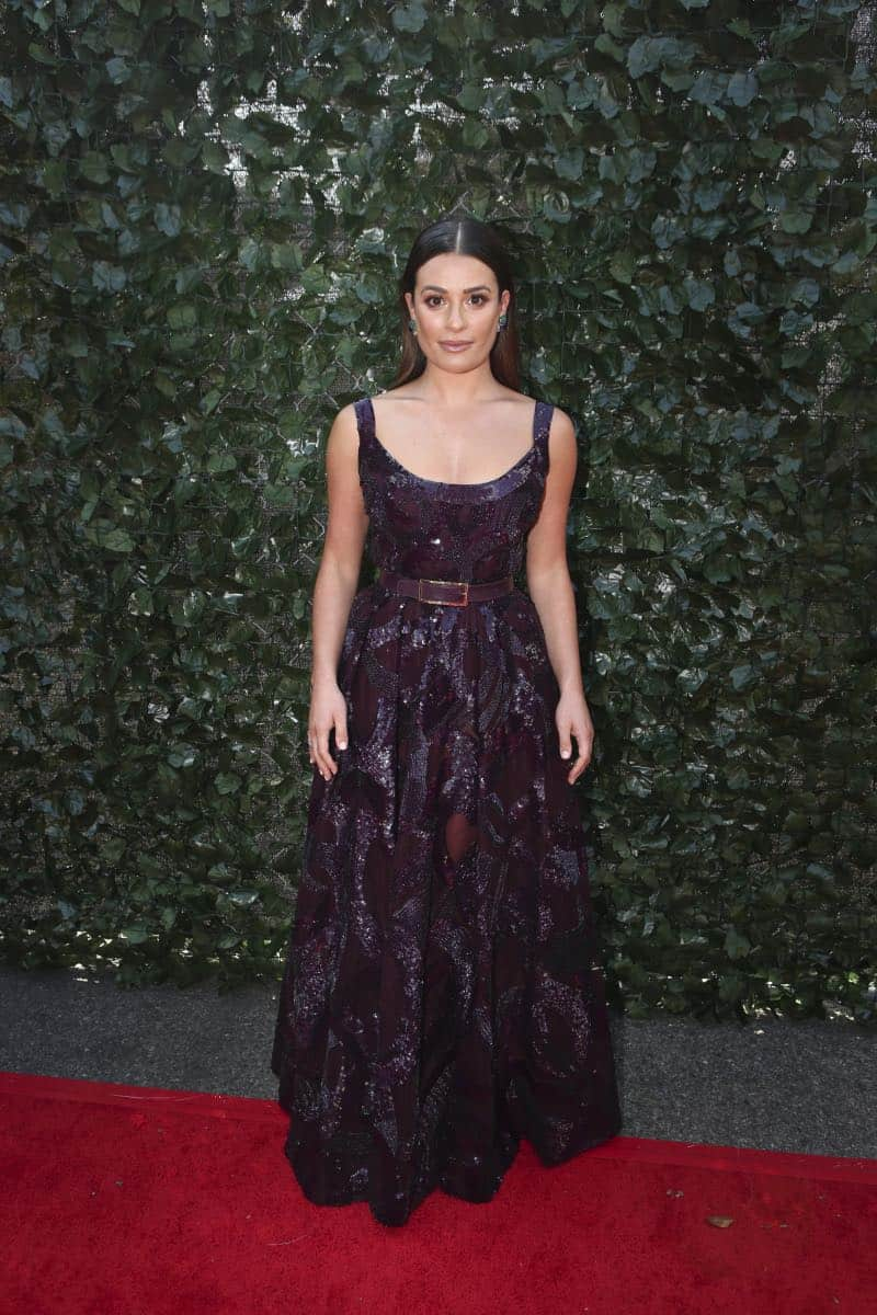 Lea Michele arrives on the red carpet at the 69TH PRIMETIME EMMY AWARDS, LIVE from the Microsoft Theater in Los Angeles Sunday, Sept. 17 (8:00-11:00 PM, live ET/5:00-8:00 PM live PT) on the CBS Television Network.   Photo: Mark Davis/CBS ©2017 CBS Broadcasting, Inc. All Rights Reserved.