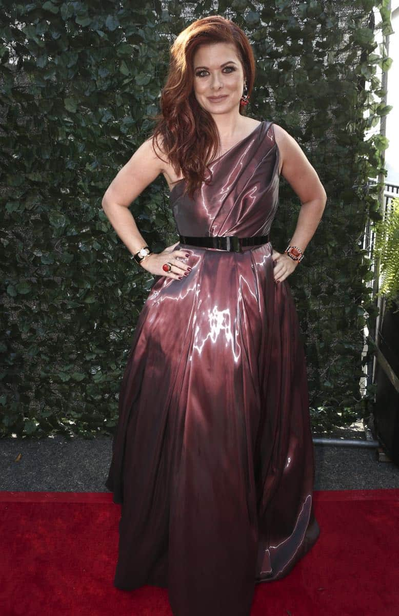 Debra Messing arrives on the red carpet at the 69TH PRIMETIME EMMY AWARDS, LIVE from the Microsoft Theater in Los Angeles Sunday, Sept. 17 (8:00-11:00 PM, live ET/5:00-8:00 PM live PT) on the CBS Television Network.   Photo: Mark Davis/CBS ©2017 CBS Broadcasting, Inc. All Rights Reserved.