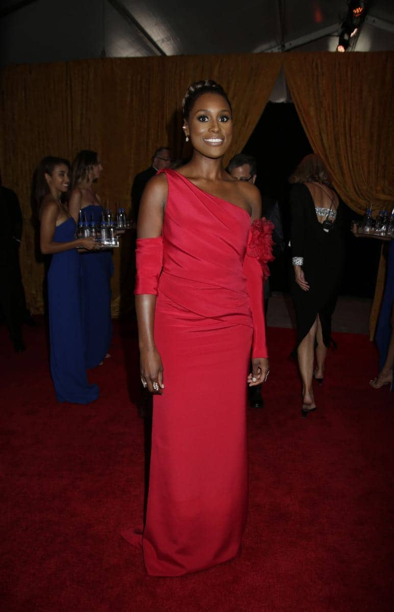 Issa Rae on the Red Carpet at the 69TH PRIMETIME EMMY AWARDS, LIVE from the Microsoft Theater in Los Angeles Sunday, Sept. 17 (8:00-11:00 PM, live ET/5:00-8:00 PM live PT) on the CBS Television Network.   Photo: Francis Specker/CBS ©2017 CBS Broadcasting, Inc. All Rights Reserved.