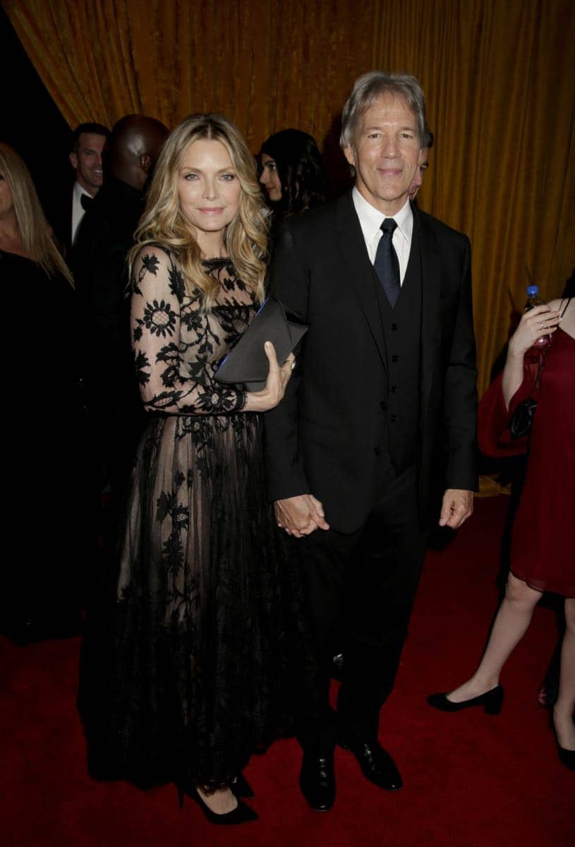 Michelle Pfeiffer and David E. Kelley on the Red Carpet at the 69TH PRIMETIME EMMY AWARDS, LIVE from the Microsoft Theater in Los Angeles Sunday, Sept. 17 (8:00-11:00 PM, live ET/5:00-8:00 PM live PT) on the CBS Television Network.   Photo: Francis Specker/CBS ©2017 CBS Broadcasting, Inc. All Rights Reserved.