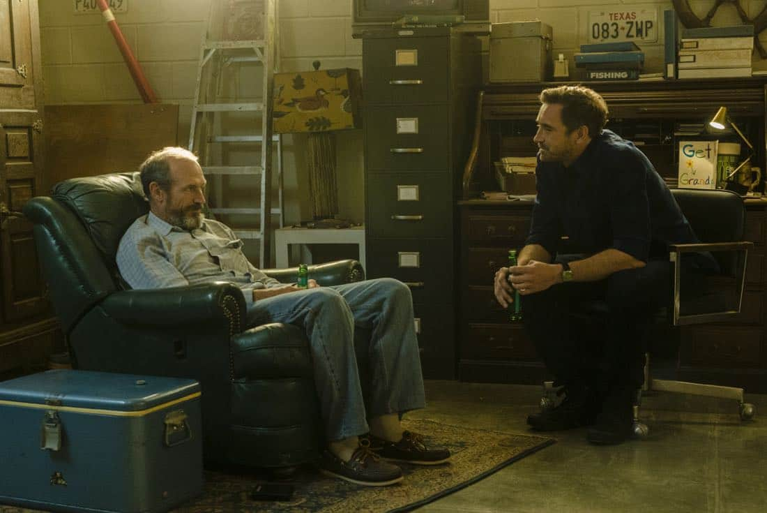 Toby Huss as John Bosworth, Lee Pace as Joe MacMillan - Halt and Catch Fire _ Season 4, Episode 6 - Photo Credit: Tina Rowden/AMC