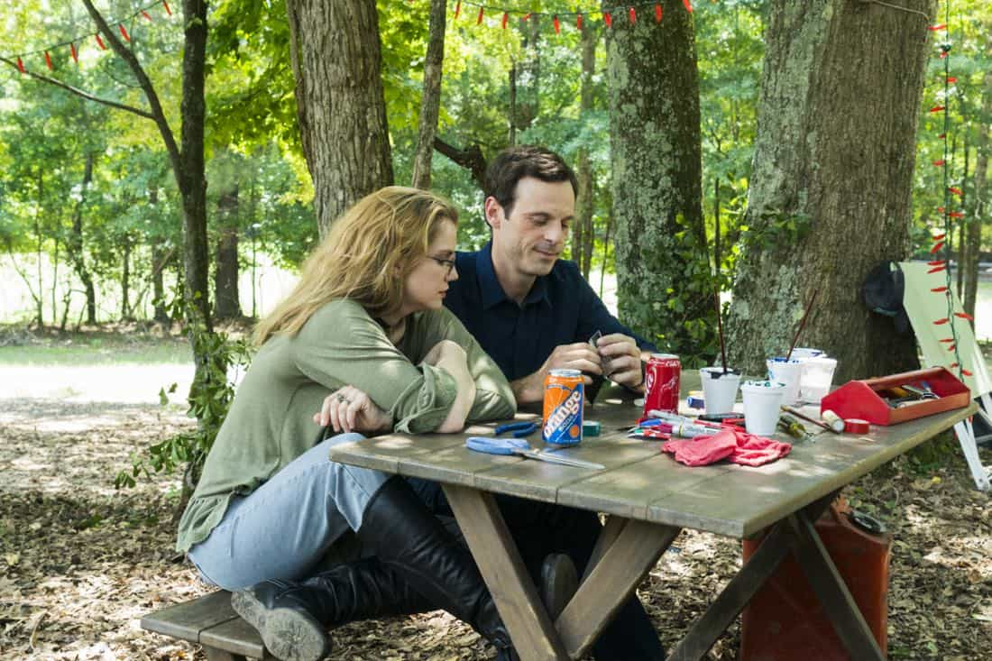 Scoot McNairy as Gordon Clark, Anna Chlumsky as Katie Herman - Halt and Catch Fire _ Season 4, Episode 6 - Photo Credit: Tina Rowden/AMC