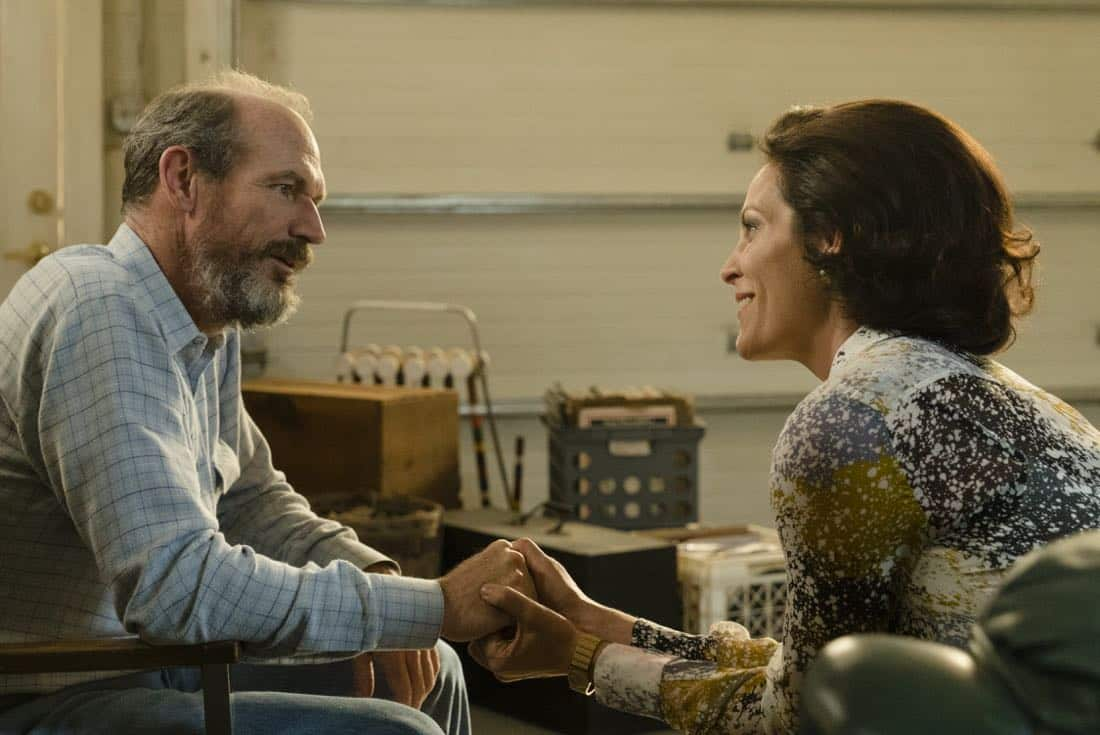 Toby Huss as John Bosworth, Annabeth Gish as Diane Gould - Halt and Catch Fire _ Season 4, Episode 6 - Photo Credit: Tina Rowden/AMC
