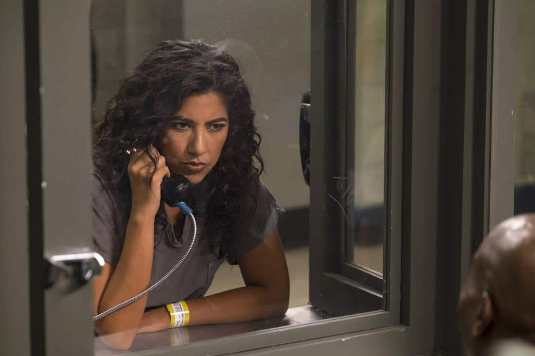 "BROOKLYN NINE-NINE:Stephanie Beatriz in the ""The Big House Pt.1"" Season Five premiere episode of BROOKLYN NINE-NINE airing Tuesday, Sept. 26 (9:30-10:00 PM ET/PT) on FOX.  CR: John P Fleenor / FOX"