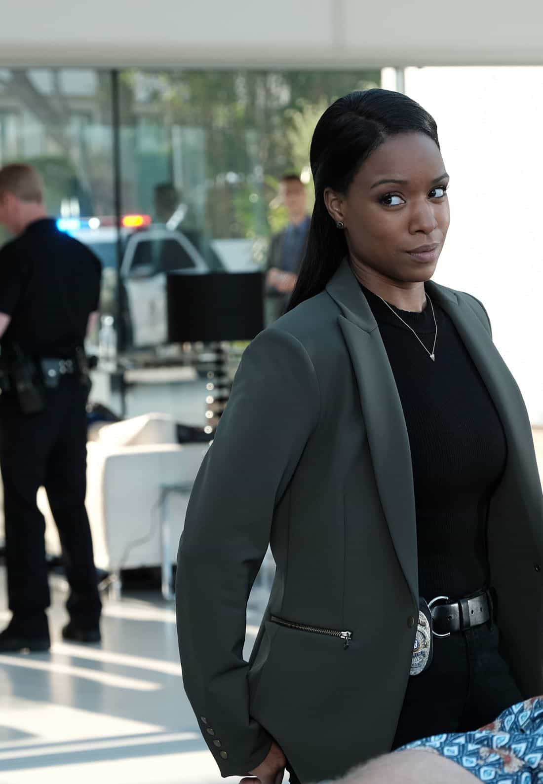 """LETHAL WEAPON: Michelle Mitchenor in the """"Dancing in September"""" episode of LETHAL WEAPON airing Tuesday, Oct. 3 (8:00-9:00 PM ET/PT) on FOX. ©2017 Fox Broadcasting Co. CR: Ray Mickshaw/FOX"""