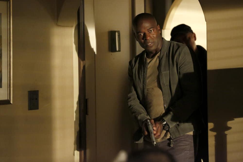 "THE BLACKLIST -- ""Greyson Blaise"" Episode 502 -- Pictured: Hisham Tawfiq as Dembe Zuma -- (Photo by: Will Hart/NBC)"