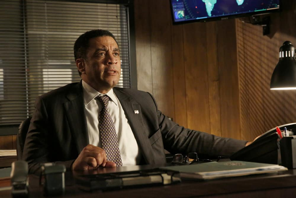 """THE BLACKLIST -- """"Greyson Blaise"""" Episode 502 -- Pictured: Harry Lennix as Harold Cooper -- (Photo by: Will Hart/NBC)"""