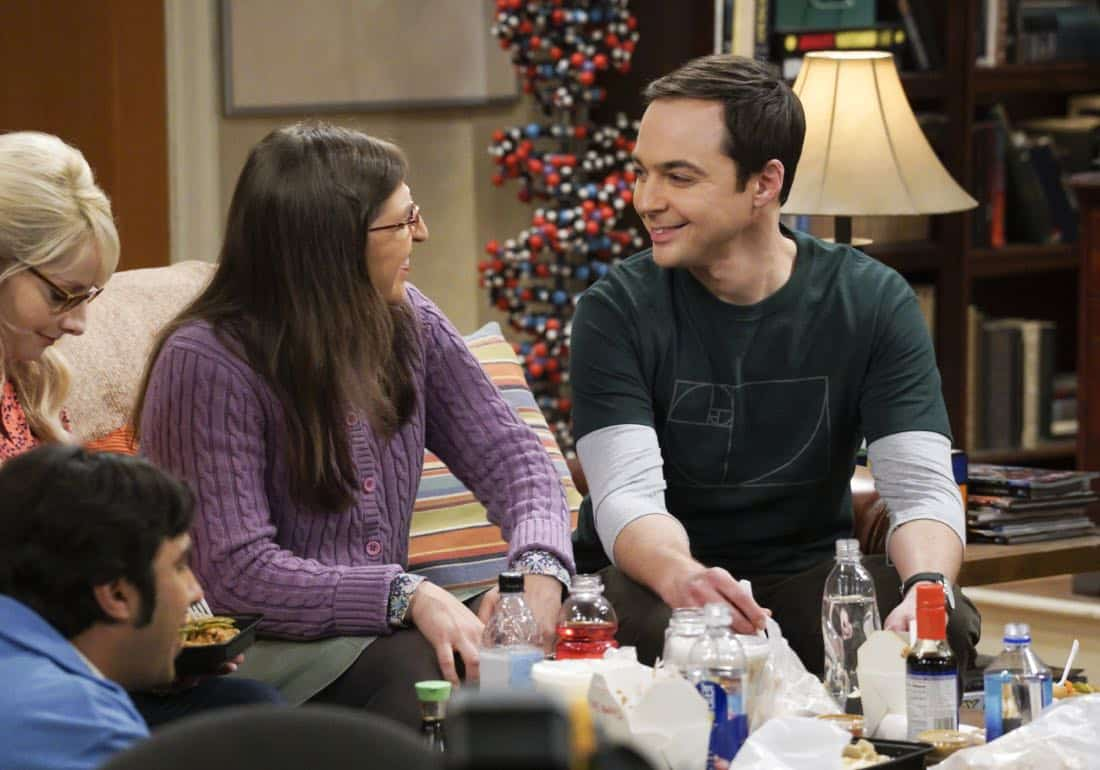"""""""The Retraction Reaction"""" - Pictured: Amy Farrah Fowler (Mayim Bialik) and Sheldon Cooper (Jim Parsons). Leonard angers the university -- and the entire physics community -- after he gives an embarrassing interview. Also, Amy and Bernadette bond over having to hide their success from Sheldon and Howard, Monday, Oct. 2 (8:00-8:30 PM, ET/PT) on the CBS Television Network. Ira Flatow returns to guest star as himself, and Regina King returns as Mrs. Davis. Photo: Richard Cartwright/CBS ©2017 CBS Broadcasting, Inc. All Rights Reserved"""