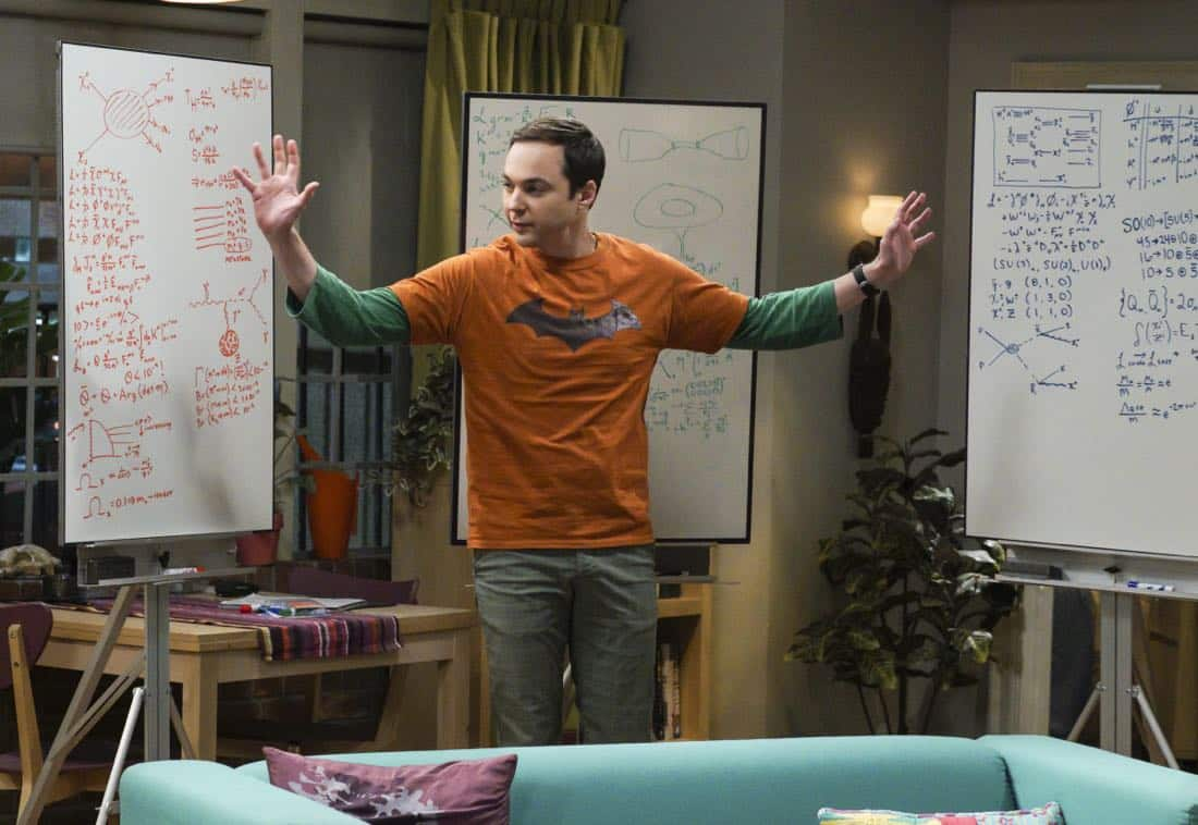 """""""The Retraction Reaction"""" - Pictured: Sheldon Cooper (Jim Parsons). Leonard angers the university -- and the entire physics community -- after he gives an embarrassing interview. Also, Amy and Bernadette bond over having to hide their success from Sheldon and Howard, Monday, Oct. 2 (8:00-8:30 PM, ET/PT) on the CBS Television Network. Ira Flatow returns to guest star as himself, and Regina King returns as Mrs. Davis. Photo: Richard Cartwright/CBS ©2017 CBS Broadcasting, Inc. All Rights Reserved"""