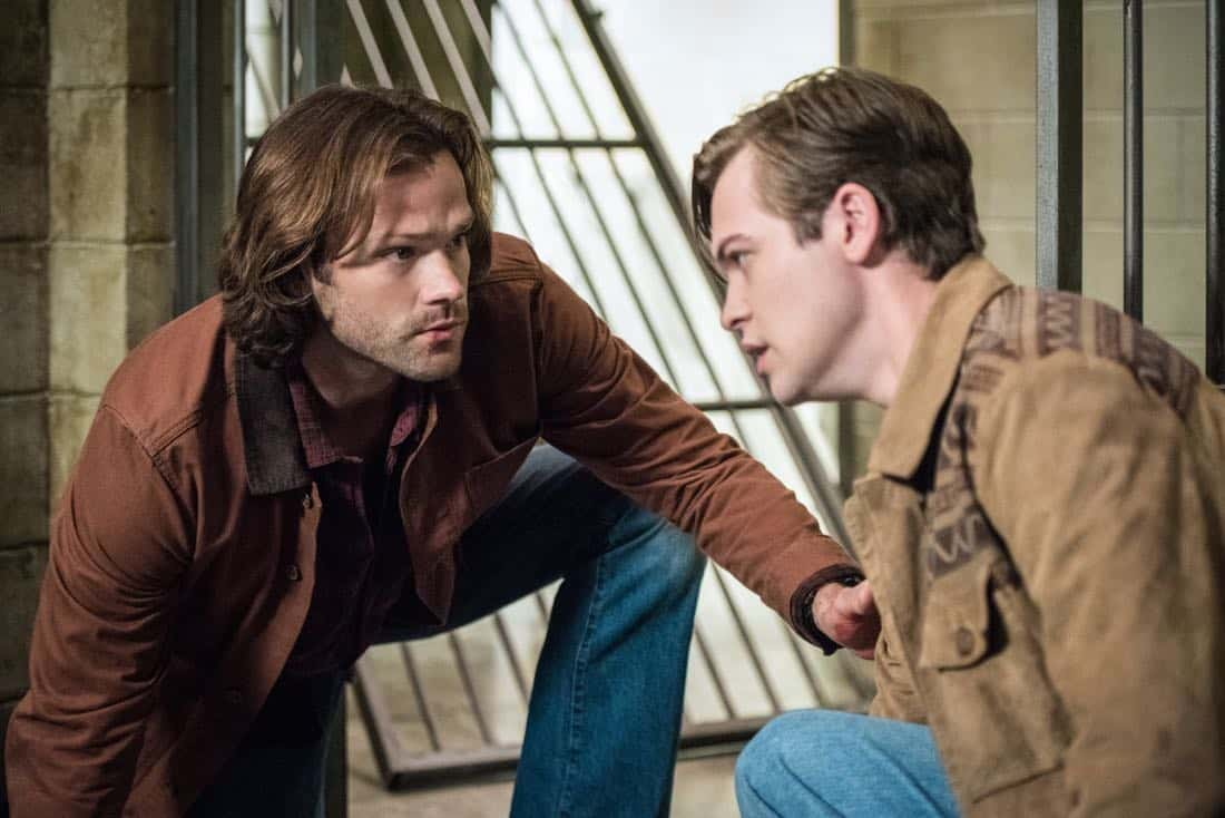 "Supernatural -- ""Lost and Found Pictured (L-R): Jared Padalecki as Sam and Alexander Calvert as Jack"