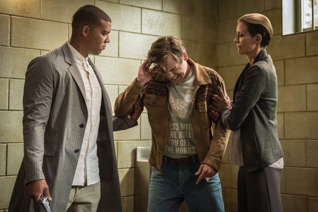 "Supernatural -- ""Lost and Found Pictured (L-R): Ish Morris as Conrad, Alexander Calvert as Jack and Erika Walter as Lily"