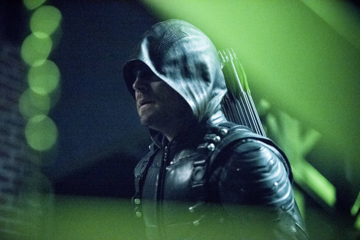 "Arrow -- ""Fallout"" -- Pictured: Stephen Amell as Oliver Queen/The Green Arrow"