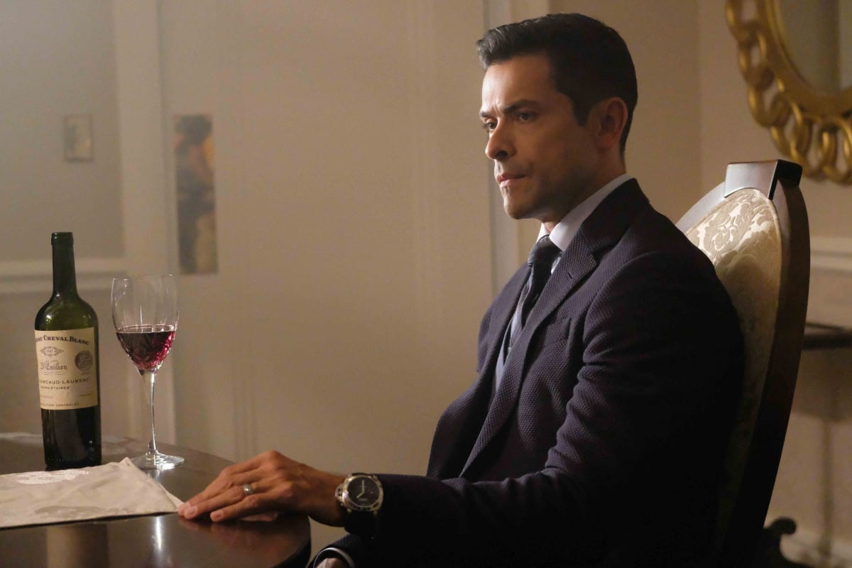 """Riverdale -- """"A Kiss Before Dying"""" Pictured: Mark Consuelos as Hiram Lodge"""