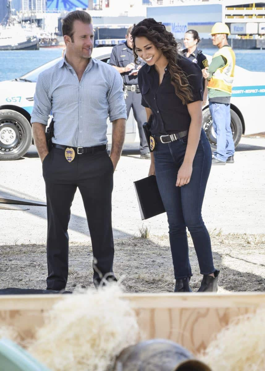 "Hawaii Five 0 Pictured left to right: Scott Caan as Danny ""Danno"" Williams and Meaghan Rath as Tani Rey"