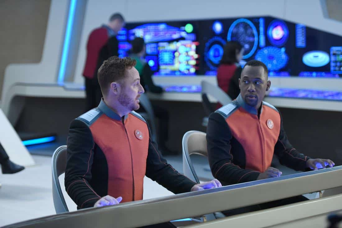 "THE ORVILLE: L-R: Scott Grimes and J Lee in the ""If the Stars Should Appear"""