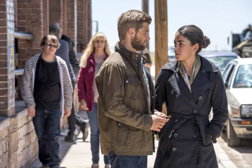 "THE BRAVE -- ""Moscow Rules"" Episode 102 -- Pictured: (l-r) Mike Vogel as Captain Adam Dalton, Natacha Karam as Sergeant Jasmine ""Jaz"" Khan"