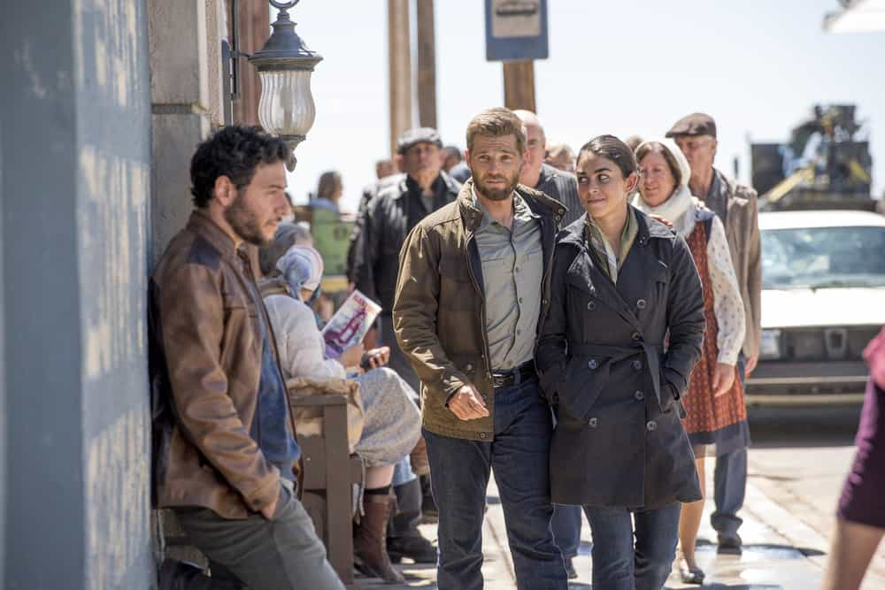 "THE BRAVE -- ""Moscow Rules"" Episode 102 -- Pictured: (l-r) Habi Tabbal as Agent Amir Al-Raisani, Mike Vogel as Captain Adam Dalton, Natacha Karam as Sergeant Jasmin ""Jaz"" Khan"