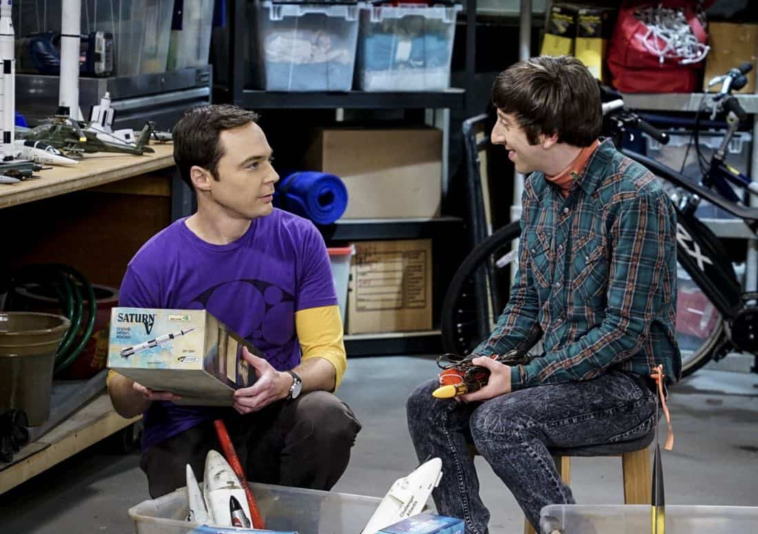"""The Explosion Implosion"" - Pictured: Sheldon Cooper (Jim Parsons) and Howard Wolowitz (Simon Helberg). Howard and Sheldon bond when they drive to the desert to shoot off a model rocket. Also, when Leonard's mom, Beverly (Christine Baranski), finds a new best friend in Penny, it rubs Leonard the wrong way, on THE BIG BANG THEORY, Monday, Oct. 16 (8:00-8:31 PM, ET/PT), on the CBS Television Network. Photo: Monty Brinton/CBS ©2017 CBS Broadcasting, Inc. All Rights Reserved"