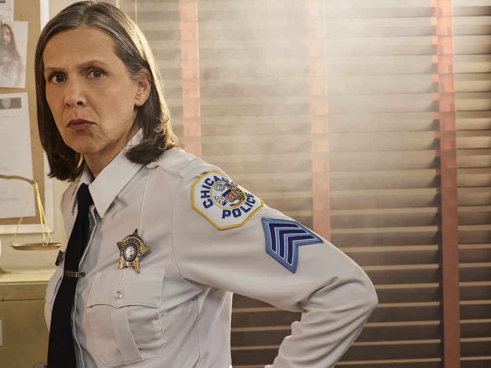 CHICAGO P.D. -- Season: 5 -- Pictured: Amy Morton as Sgt. Trudy Platt -- (Photo by: James Dimmock/NBC)