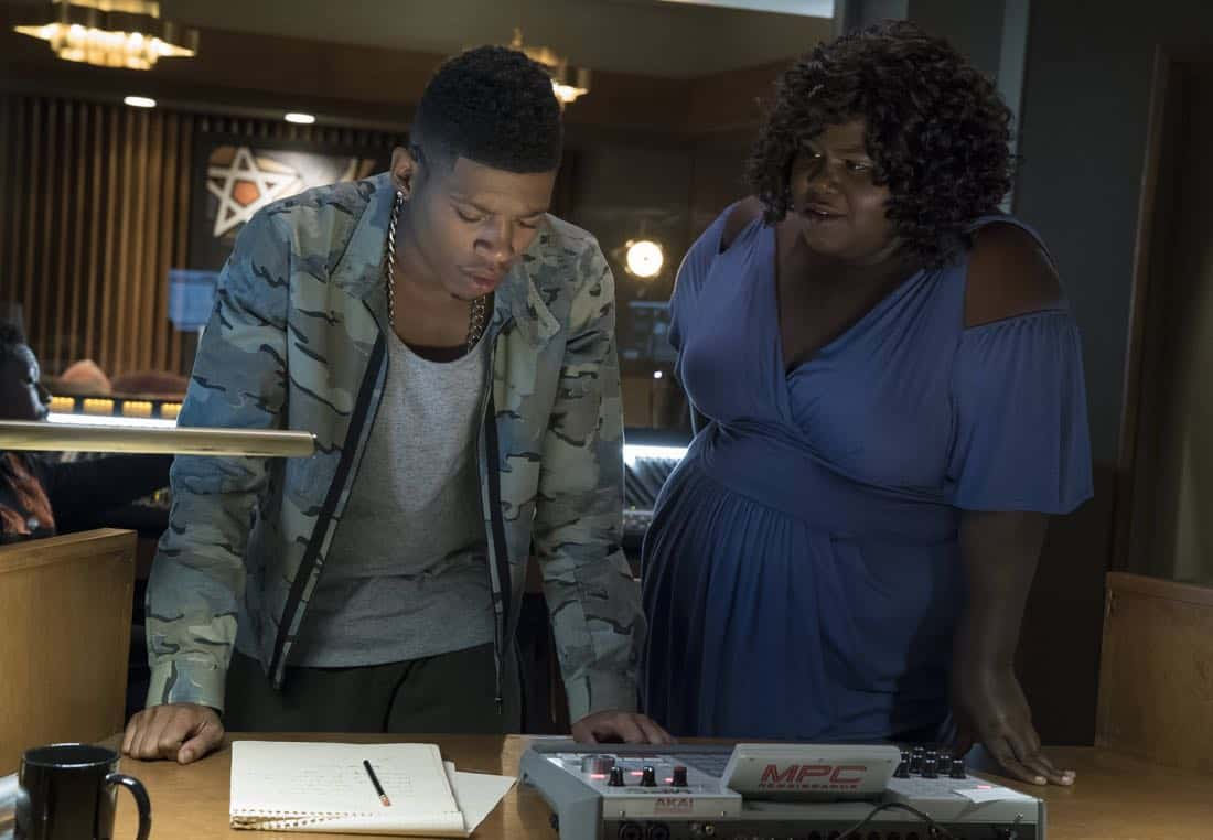 """EMPIRE: Pictured L-R: Bryshere Gray and Gabourey Sidibe in the """"Full Circle"""" episode of Wednesday, Oct. 4 (8:00-9:00 PM ET/PT) on FOX. ©2017 Fox Broadcasting Co. CR: Chuck Hodes/FOX"""