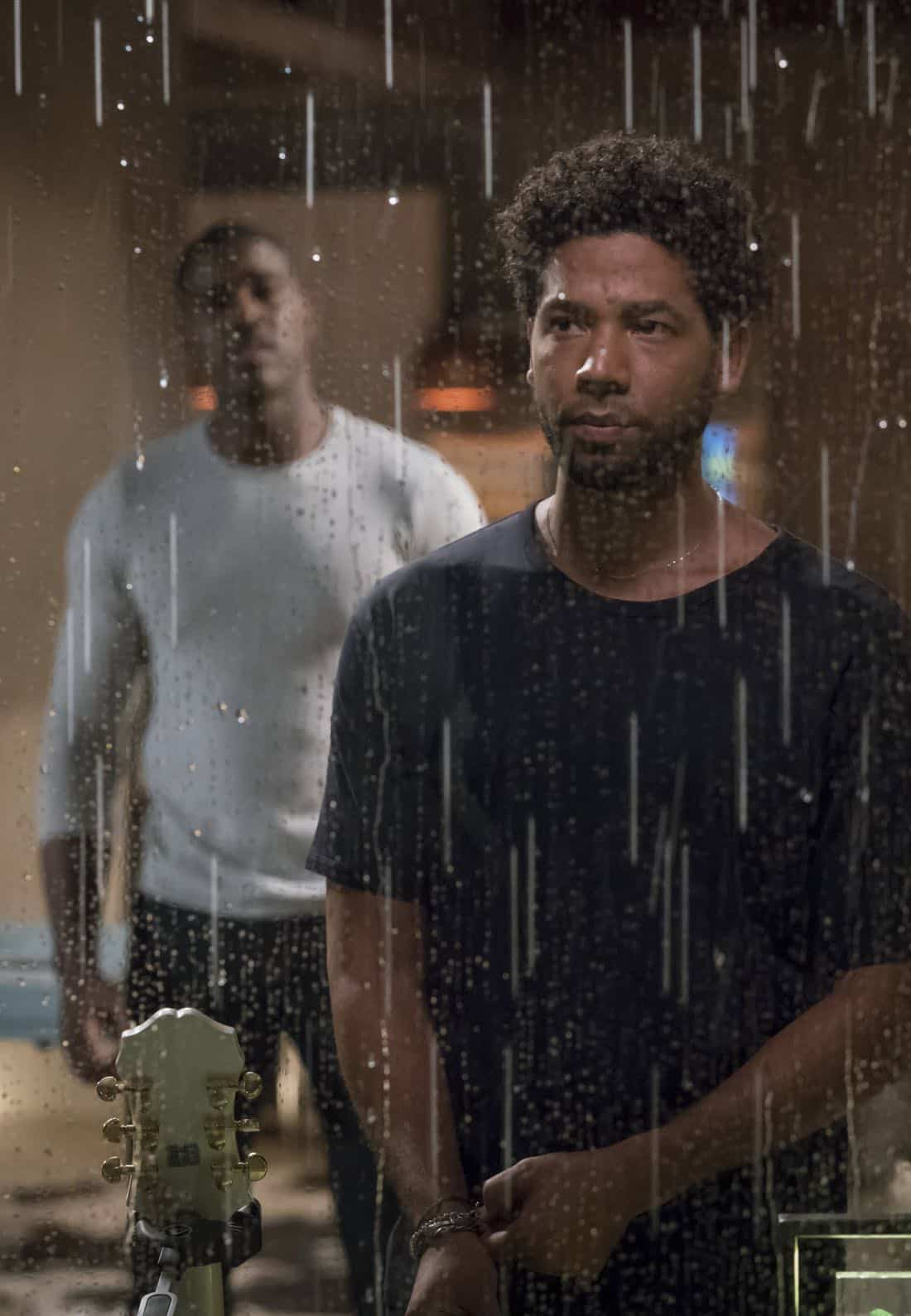 """EMPIRE: Pictured L-R: Terrell Carter and Jussie Smollett in the """"Full Circle"""""""