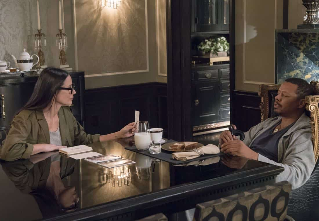 """EMPIRE: Pictured L-R: Guest star Demi Moore and Terrence Howard in the """"Full Circle"""""""