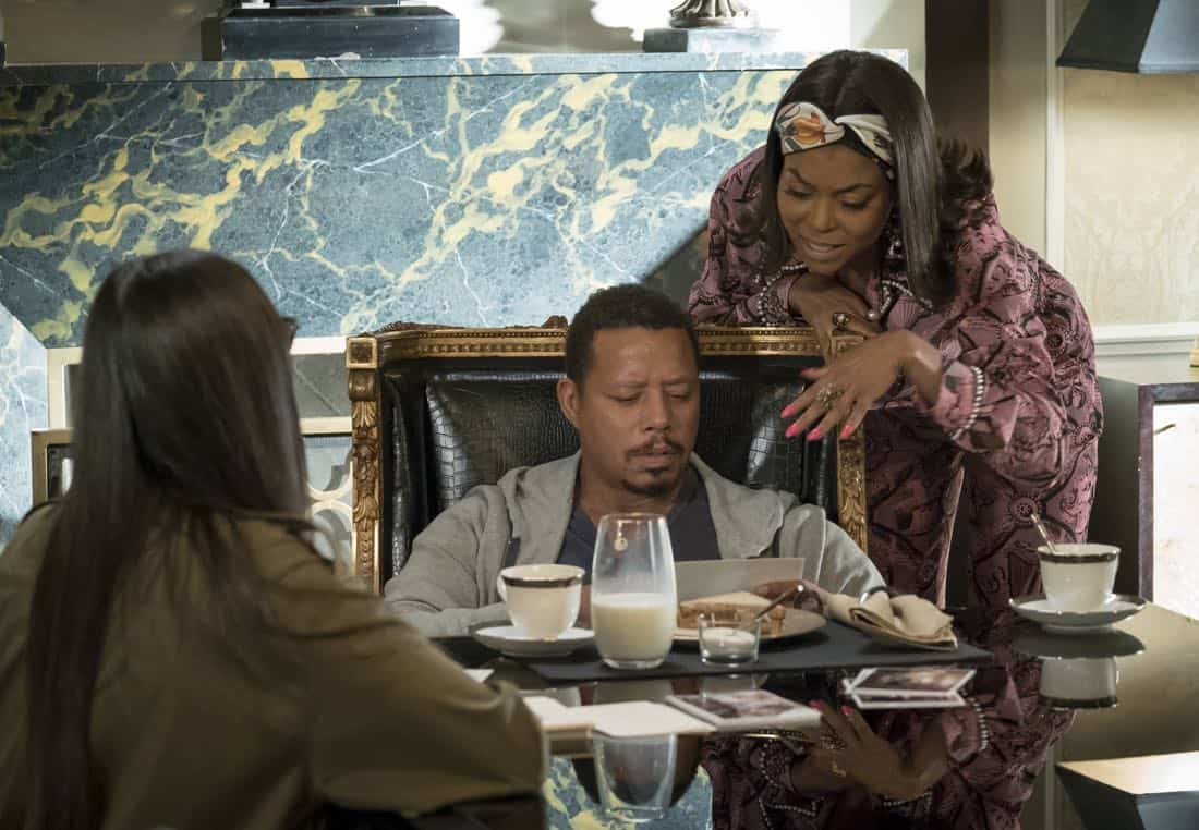 """EMPIRE: Pictured L-R: Guest star Demi Moore, Taraji P. Henson and Terrence Howard in the """"Full Circle"""""""