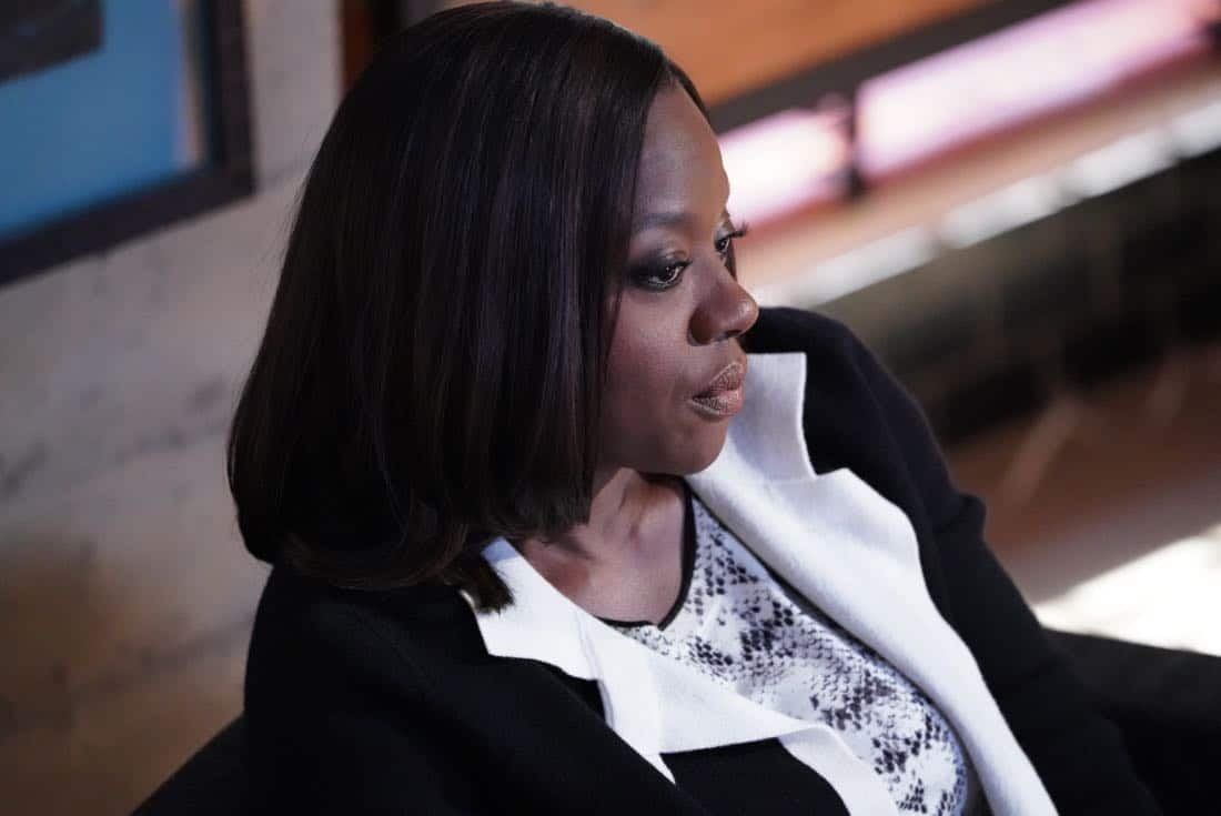 "HOW TO GET AWAY WITH MURDER - ""I'm Not Her"" - While Annalise reconnects with an important client from her past, she continues to struggle to move forward in her personal life. Meanwhile, the ""Keating 4"" find it difficult to move past their tarnished reputations; and in a flash-forward, details to a tragic crime begin to unfold on, ""How to Get Away with Murder,"" THURSDAY, OCTOBER 5 (10:00-11:00 p.m. EDT), on The ABC Television Network. (ABC/Mitch Haaseth) VIOLA DAVIS"