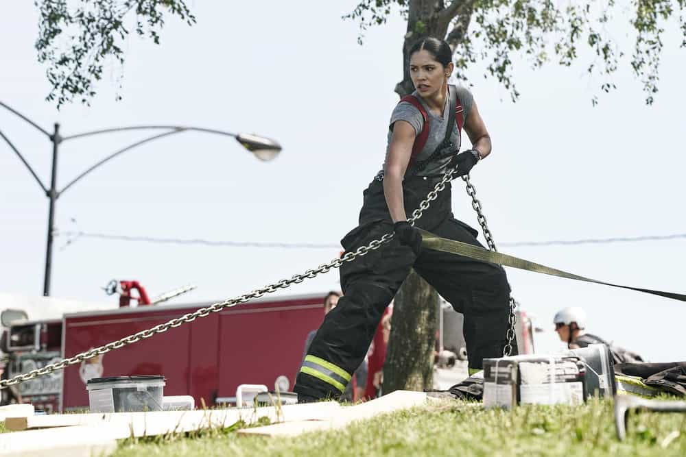 """CHICAGO FIRE -- """"Ignite on Contact"""" -- Episode 602 -- Pictured: (l-r) Miranda Rae Mayo as Stella Kidd -- (Photo by: Elizabeth Morris/NBC)"""